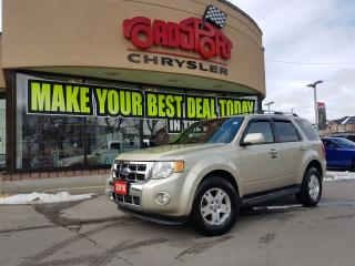 Used 2010 Ford Escape Limited P-ROOF LEATHER 2 SETS OF WHEELS LOW KMS for sale in Scarborough, ON