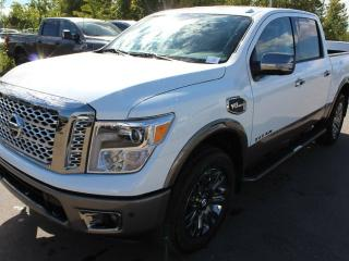 New 2018 Nissan Titan Platinum 4x4 Crew Cab 5.6 ft. box 139.8 in. WB for sale in Edmonton, AB