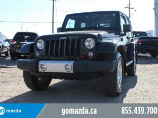 Used 2015 Jeep Wrangler SAHARA LIMITED 4X4 LEATHER NAV SMALL LIFT for sale in Edmonton, AB