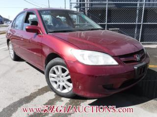 Used 2005 Honda CIVIC LX-G 4D SEDAN for sale in Calgary, AB