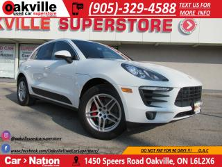 Used 2016 Porsche Macan S | LEATHER | NAV | PANO ROOF | BT | HTD SEATS for sale in Oakville, ON