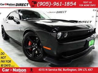 Used 2018 Dodge Challenger SRT Hellcat| SUNROOF| RED LEATHER| 707 HP| for sale in Burlington, ON