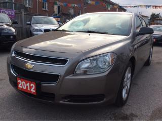 Used 2012 Chevrolet Malibu 4Cyl./AUX Input/Pwr Group/Alloys/Mint condition for sale in Scarborough, ON