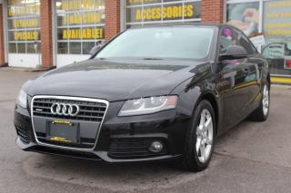 Used 2009 Audi A4 2.0T Quattro Low Kms/Leather/Bluetooth/Sunroof for sale in Oakville, ON