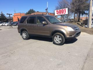Used 2004 Honda CR-V AWD,LEATHER,S/R,SAFETY+3YEARS WARRANTY INCLUDED for sale in North York, ON