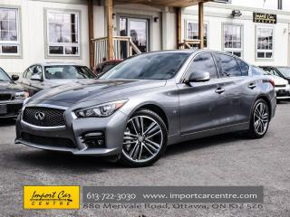 Used 2014 Infiniti Q50S AWD SPORT  TECHNOLOGY PACKAGE LEATHER ROOF for sale in Ottawa, ON