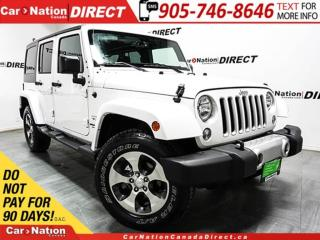 Used 2017 Jeep Wrangler Unlimited Sahara| 4X4| LOW KM'S| NAVI| for sale in Burlington, ON