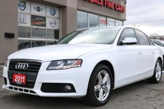 Used 2011 Audi A4 2.0T Quattro. Leather. Roof. Non Accident for sale in North York, ON