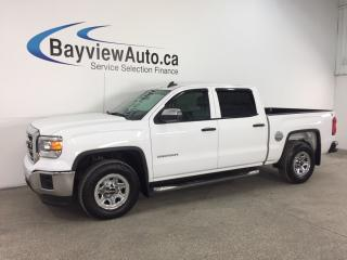 Used 2015 GMC Sierra 1500 Base - CHROMES! HITCH! CREW! 5.3L! REV CAM! TOW/HAUL! BLUETOOTH! for sale in Belleville, ON