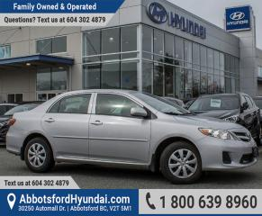 Used 2011 Toyota Corolla CE LOW KILOMETRES & ACCIDENT FREE for sale in Abbotsford, BC