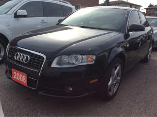 Used 2008 Audi A4 LOW KMs 154K 2.0T/AWD/Heated Leather Seat/Sunroof for sale in Scarborough, ON