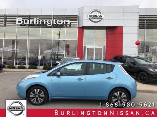 Used 2015 Nissan Leaf SL, NAVi, ACCIDENT FREE ! for sale in Burlington, ON