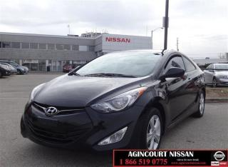Used 2013 Hyundai Elantra GLS GLS|MANUAL|2DR|6SP|HEAT SEAT|SUNROOF for sale in Scarborough, ON