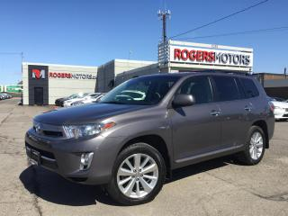Used 2013 Toyota Highlander HYBRID 4WD - DVD - 7 PASS - LEATHER - SUNROOF for sale in Oakville, ON