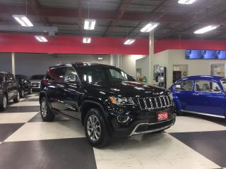 Used 2016 Jeep Grand Cherokee LIMITED 4X4 LEATHER SUNROOF BACKUP CAMERA 64K for sale in North York, ON
