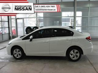 Used 2013 Honda Civic Sedan LX  - Bluetooth -  Heated Seats - $76.29 B/W for sale in Mississauga, ON