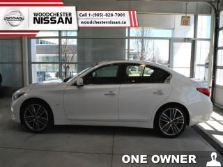 Used 2015 Infiniti Q50 Premium  - one owner - Navigation - $195.17 B/W for sale in Mississauga, ON