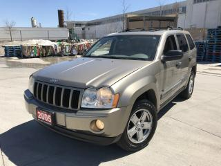 Used 2005 Jeep Grand Cherokee 4x4, Leather Sunroof, Auto, Low km for sale in North York, ON