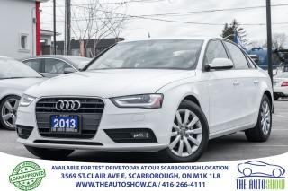 Used 2013 Audi A4 2.0T Quattro Sunroof Heated-Leather Bluetooth for sale in Caledon, ON