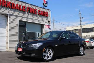 Used 2010 BMW 528 i Navigation. Leather. Roof. Original for sale in Toronto, ON