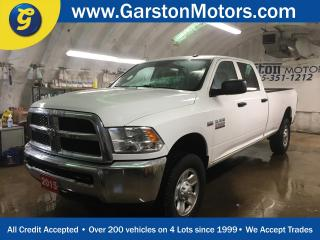 Used 2015 Dodge Ram 2500 CREW CAB*KEYLESS ENTRY*POWER WINDOWS/LOCKS/HEATED MIRRORS*CRUISE CONTROL*CLIMATE CONTROL*TRACTION CONTROL*TOW/HAUL MODE*AM/FM/XM/AUX/USB*CHROME RIMS*HITCH RECEIVER w/PIN CONNECTOR*FRONT TOW HOOKS* for sale in Cambridge, ON