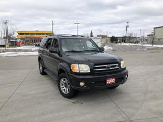 Used 2003 Toyota Sequoia Limited, 4WD, 8 Pass, Low km, warranty avail for sale in North York, ON
