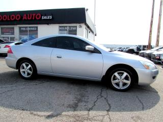 Used 2005 Honda Accord Coupe EX-L Coupe with Leather Sunroof Certified 2YR Warranty for sale in Milton, ON