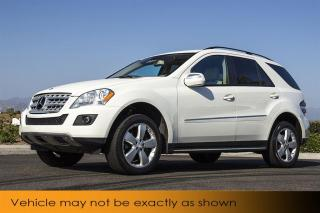 Used 2009 Mercedes-Benz ML-Class ML350 Nav DVD Sunroof Backup C for sale in Winnipeg, MB