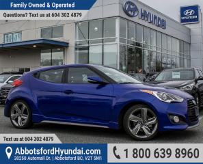 Used 2013 Hyundai Veloster Turbo ACCIDENT FREE & BC OWNED for sale in Abbotsford, BC