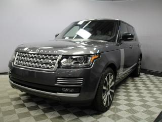 Used 2016 Land Rover Range Rover Range Rover 5.0L V8 Supercharged Autobiography LWB - CPO 6yr/160000kms manufacturer warranty included until May 1, 2022! CPO rates starting at 2.9%! Local One Owner Trade In | No Accidents | Power Rear Sunshades | Soft Door Close | 10.2 Inch Rear DVD Scre for sale in Edmonton, AB