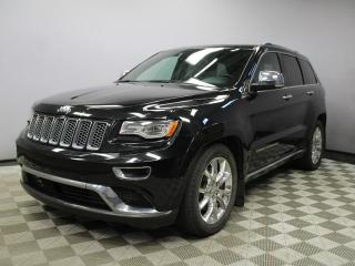 Used 2015 Jeep Grand Cherokee Summit 5.7L HEMI - Local One Owner Trade In | No Accidents | Navigation | Back Up Camera | Parking Sensors | Dual Screen Rear DVD | Power Liftgate | Panoramic Sunroof | Remote Starter | Adaptive Cruise Control | Forward Collision Warning | Adjustable Air  for sale in Edmonton, AB