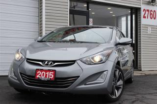 Used 2015 Hyundai Elantra Limited. Leather. Roof. Navigation. Camera for sale in Toronto, ON