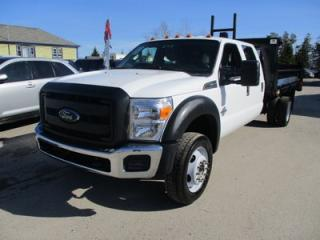 Used 2015 Ford F-550 'GREAT KM'S' WORK READY SUPER-DUTY MODEL 6 PASSENGER 6.7L - DIESEL.. 4X4.. CREW.. HYDRAULIC DUMP BOX.. SYNC TECHNOLOGY.. TRAILER BRAKE.. for sale in Bradford, ON