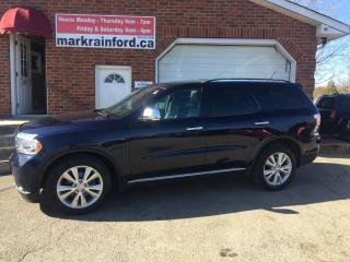 Used 2012 Dodge Durango Crew Plus AWD DVD Sunroof for sale in Bowmanville, ON