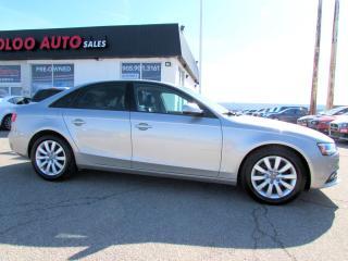 Used 2013 Audi A4 2.0T Premium Sedan Quattro 6 Spd Manual Certified 2YR Warranty for sale in Milton, ON