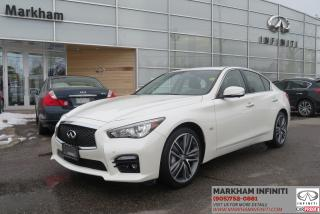 Used 2017 Infiniti Q50 3.0T TECH, Leather, Sunroof, Blind Spot Detection for sale in Unionville, ON