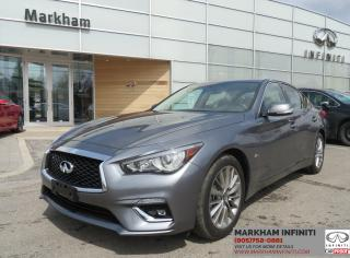 Used 2018 Infiniti Q50 3.0t LUXE Navi , Camera, Leather, Sunroof for sale in Unionville, ON