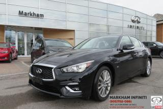 Used 2018 Infiniti Q50 3.0t LUXE Sensory ProASSIST, ProActive Pkg, Navi , 360 Cam for sale in Unionville, ON