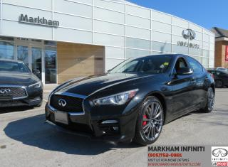 Used 2017 Infiniti Q50 3.0t Red Sport 400 TECH, Leather, Sunroof, Blind Spot Detection for sale in Unionville, ON