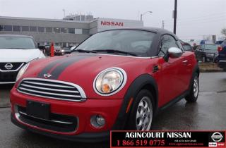 Used 2013 MINI Cooper Coupe Cooper |BLUETOOTH|6 SPEED MANUAL| XM RADIO AND USB| for sale in Scarborough, ON