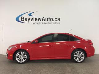 Used 2016 Chevrolet Cruze RS- 6 SPD! TURBO! SUNROOF! HTD LTHR! MY LINK! PIONEER! REV CAM! for sale in Belleville, ON