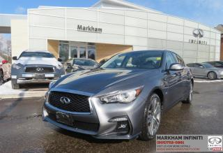 Used 2018 Infiniti Q50 3.0t Signature Edition Navi , Camera, Leather, Sunroof for sale in Unionville, ON