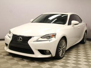 Used 2014 Lexus IS 250 Luxury AWD - Local Alberta Trade In | No Accidents | Leather Interior | Heated/Cooled Seats | Memory Seat | Power Sunroof | 18 Inch Wheels | Navigation | Back Up Camera | Parking Sensors | Dual Zone Climate Control with AC | Bluetooth | Blind Spot Monitor for sale in Edmonton, AB