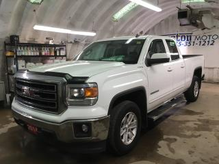 Used 2014 GMC Sierra 1500 SLE*DOUBLECAB*STANDARD BOX*4X4*PHONE CONNECT*BACK UP CAMERA*KEYLESS ENTRY w/REMOTE START*POWER ADJUSTABLE PEDALS*BOX LINER*SIDE STEPS*POWER DRIVER SEA for sale in Cambridge, ON