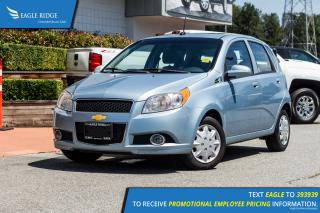 Used 2011 Chevrolet Aveo Cruise Control, Steering Wheel Mounted Audio Controls, A/C, Auxiliary for sale in Port Coquitlam, BC