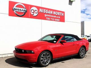 Used 2010 Ford Mustang GT V8 LEATHER CONVERTIBLE AUTOMATIC for sale in Edmonton, AB