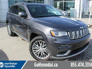 Used 2017 Jeep Grand Cherokee SUMMIT/AIRRIDESUSP/NAV/LOW KMS/LETAHER/ROOF for sale in Edmonton, AB