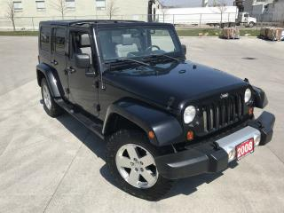 Used 2008 Jeep Wrangler 4 Door, 4x4, Automatic, No Accident, Brand New tir for sale in North York, ON