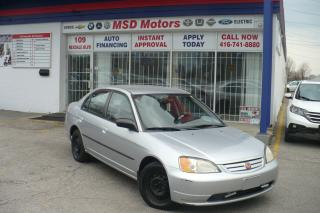Used 2002 Honda Civic DX for sale in Etobicoke, ON