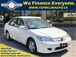 Used 2004 Honda Civic IMA HYBRID 134K km, 2 Years Warranty for sale in Concord, ON
